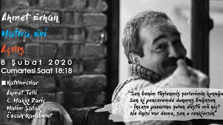 Ahmet Erhan anılacak
