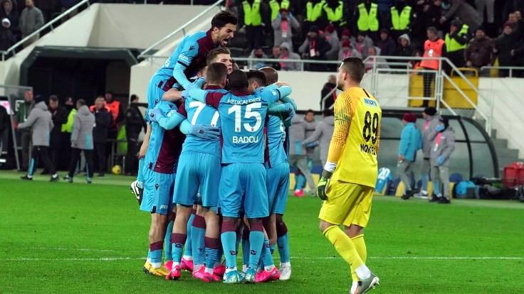 Trabzonspor galibiyet serisini 5 maça çıkardı