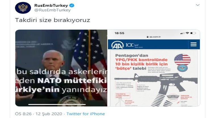 Rusya ABD'ye karşı Anadolu Ajansı kartını oynadı