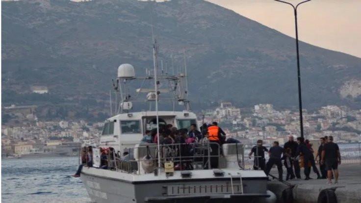 Ölüm rotasını geçen 85 mülteci Samos'a ulaştı