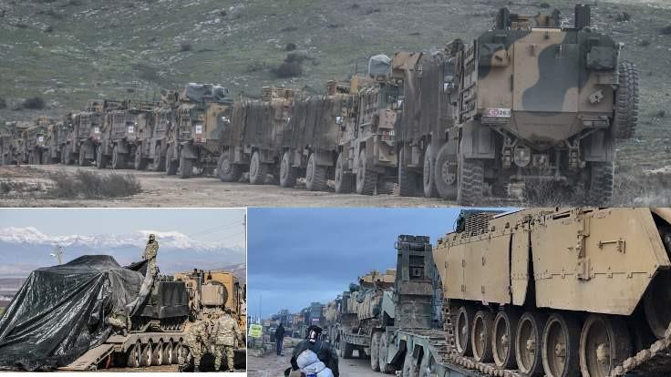 Suriye'ye büyük askeri sevkiyat