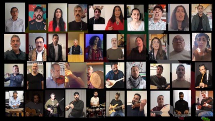 Kürt sanatçılardan 'Çav Bella'lı destek