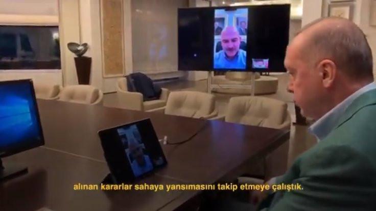 Erdoğan bakanlarla video konferans yaptı