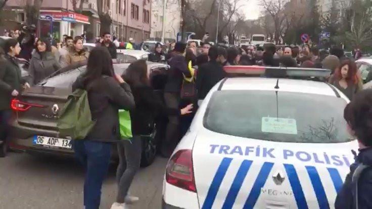 Ankara'da KYK eylemine polis saldırdı