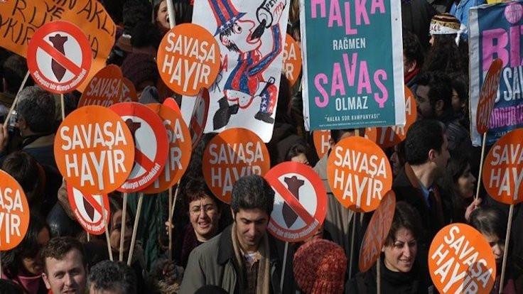 İstanbul'da 'Savaşa hayır' demek yasak