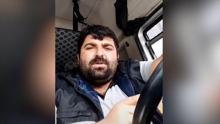 'Beni virüs değil, senin bu düzenin öldürür' diyen şoföre gözaltı