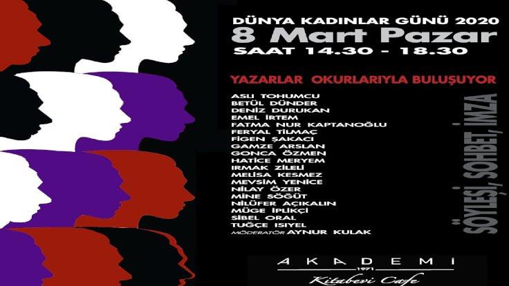 Yazarlar 8 Mart'ta Kadıköy'de