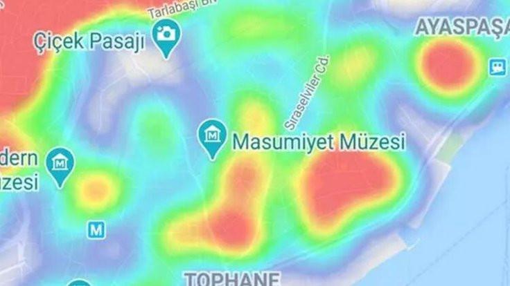 İstanbul'da korona yoğunluk haritası