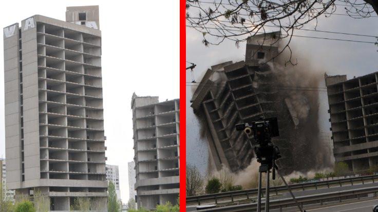 Rodina Basın Evi patlayıcıyla yıkıldı
