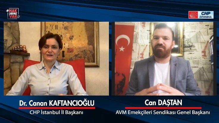 Kaftancıoğlu'ndan AVM çalışanlarına destek