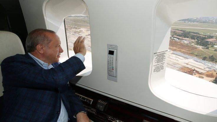 Erdoğan, hastaneleri havadan inceledi
