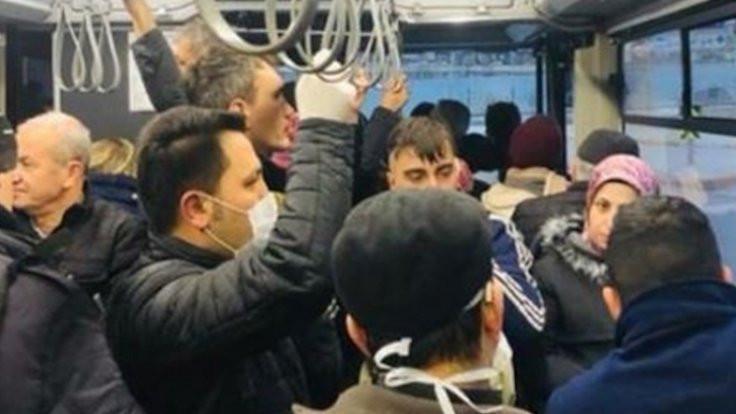 'Hiç binmedikleri otobüse koronada binmişler'