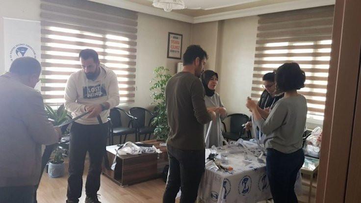 KHK'li sağlıkçılardan 'siper' yardımı