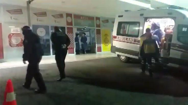 İki grup çatıştı, iki polis yaralandı
