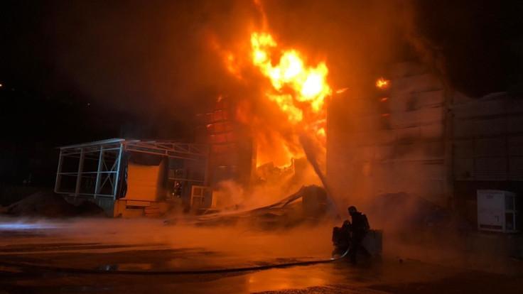 Trabzon'da fabrika yangını