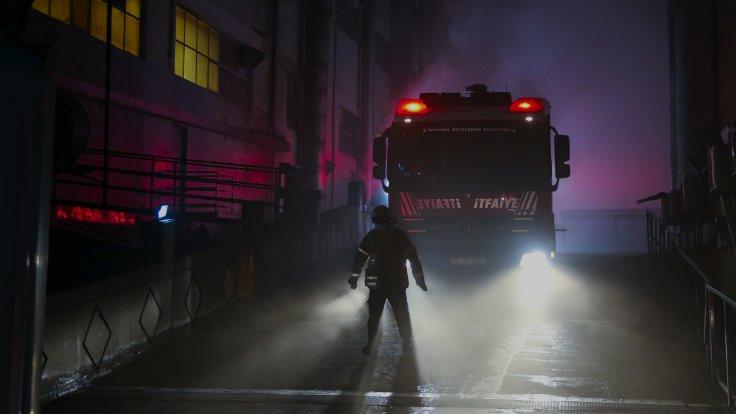 Şantiyede yangın: 1 işçi öldü