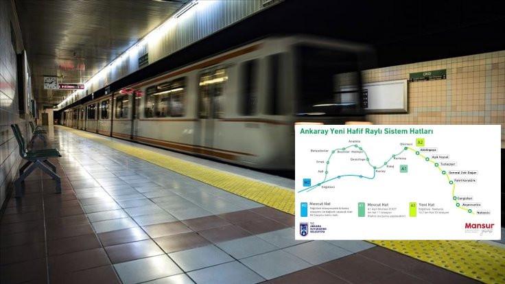 Ankara'ya yeni metronun detayları açıklandı