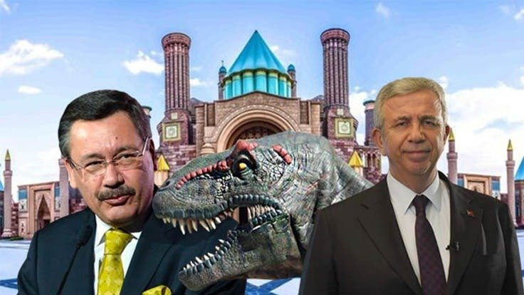 Yavaş'tan Gökçek'e dinozorlu suç duyurusu