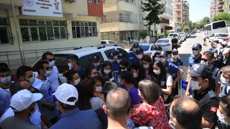 Sürgün protestosuna polis saldırdı: 8 gözaltı