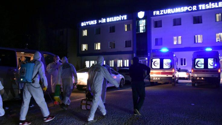 Erzurumspor'da 11 kişi korona virüsüne yakalandı