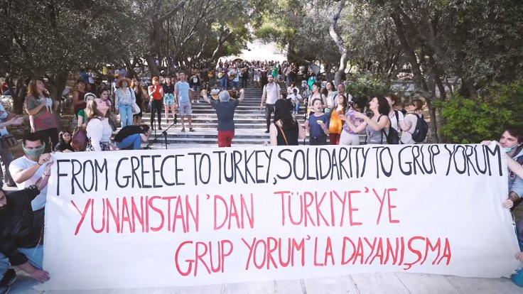 Yunanistan'da Grup Yorum'la dayanışma