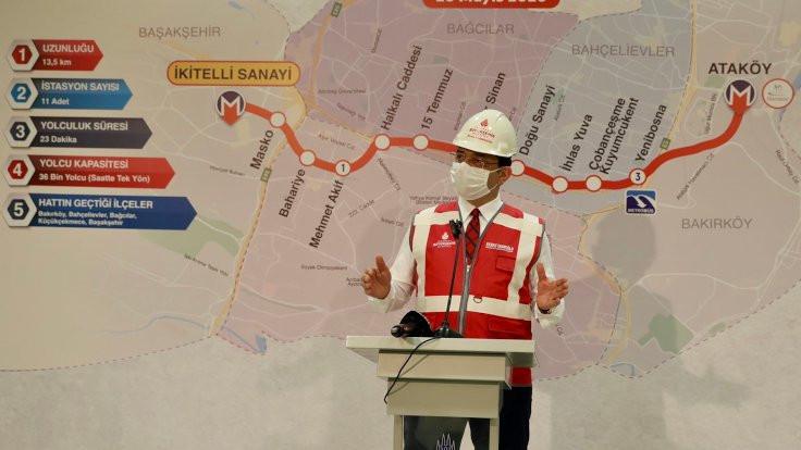 İkitelli-Ataköy metroda raylar döşeniyor
