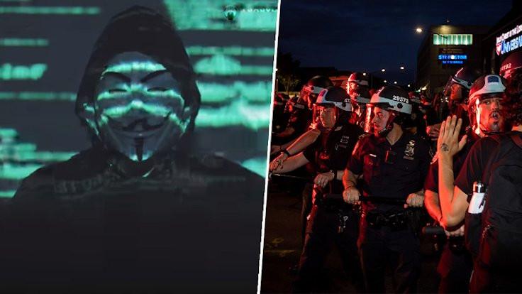 Anonymous savaş ilan etti, polisin web sitesi çöktü