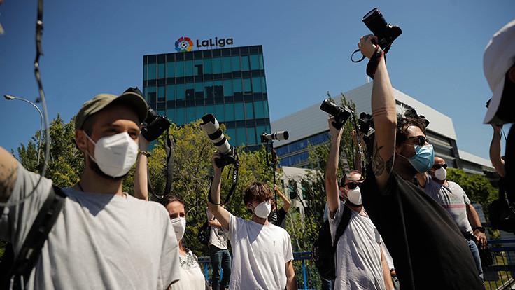 Foto muhabirlerinden La Liga'ya protesto
