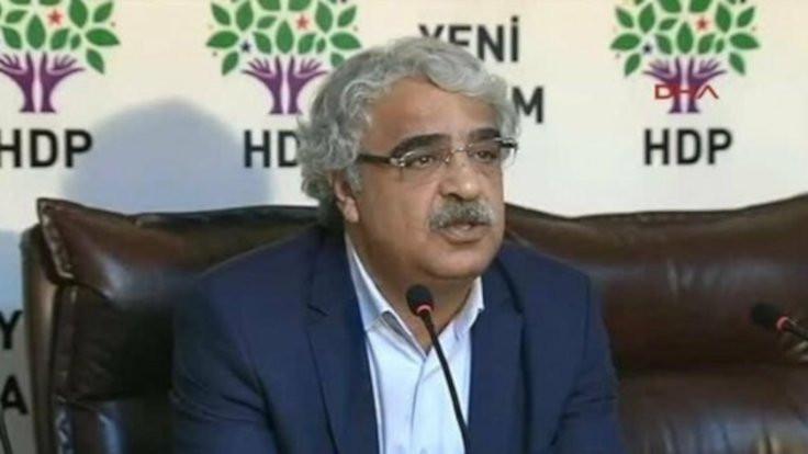 HDP Eş Genel Başkanı Sancar: İYİ Parti'den bize danışma için gelen olmadı
