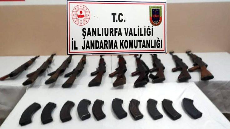 Şanlıurfa'da 10 kalaşnikof yakalandı
