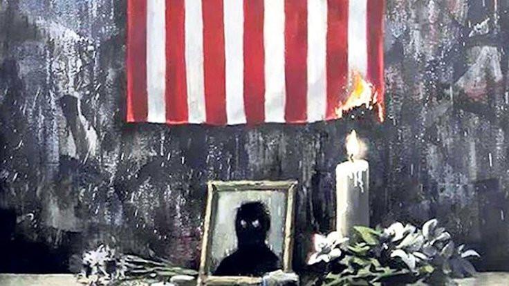 Banksy'den 'George Floyd' protestosu