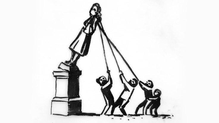 Banksy'den heykel yorumu