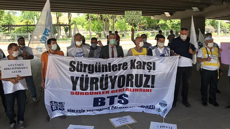 BTS, sürgüne karşı TCDD önünde yeniden toplandı