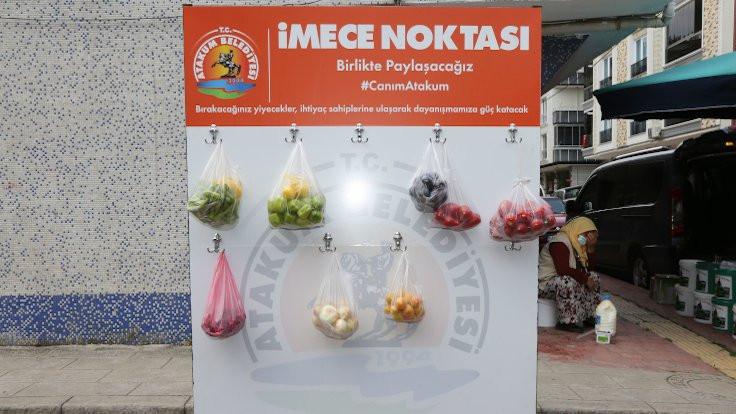 Türkiye'de ilk: Pazarda 'İmece Noktası'