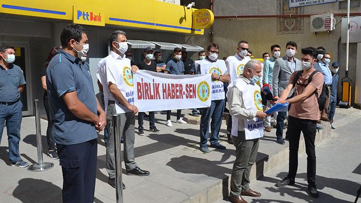 PTT'de kulağı koparılan postacı için protesto