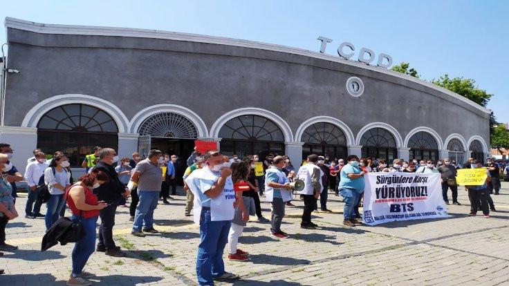 TCDD çalışanları Ankara'ya doğru yola çıktı