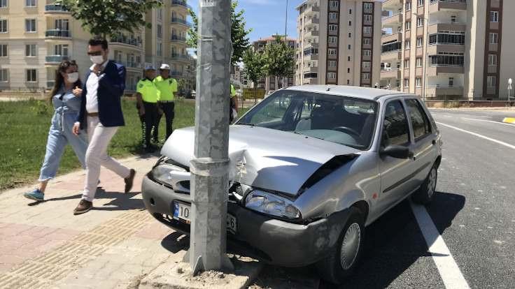 Yasağa uymayan 90'lık sürücü kaza yaptı