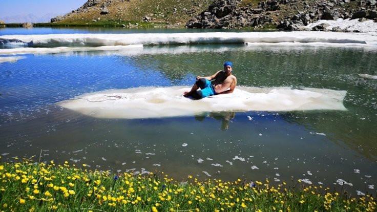 Berçelan'da dört mevsim: 3 bin 700 metrede yüzdüler - Sayfa 2