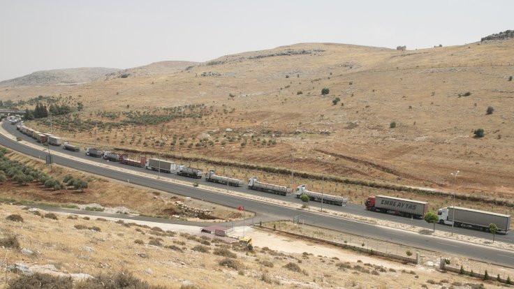 Suriye yönüne TIR kuyruğu