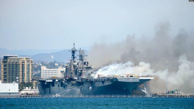 ABD savaş gemisinde yangın: 21 yaralı