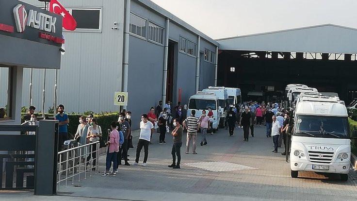Bildiriye saldırı: Fabrikada protesto