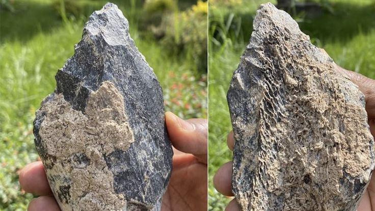 1.4 milyon yıllık kemikten yapılmış balta bulundu