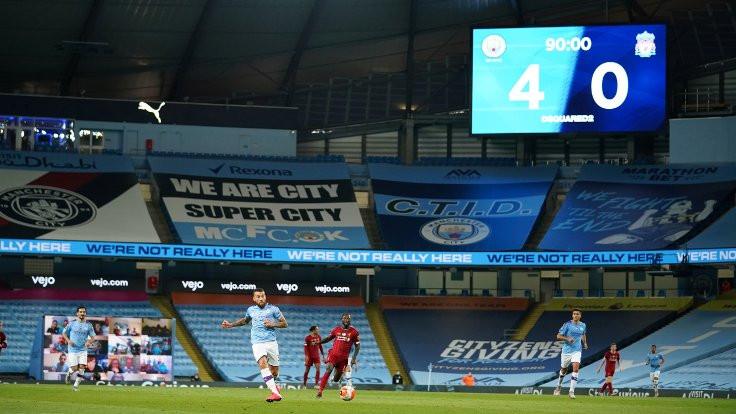 City'den şampiyon Liverpool'a 4 gol