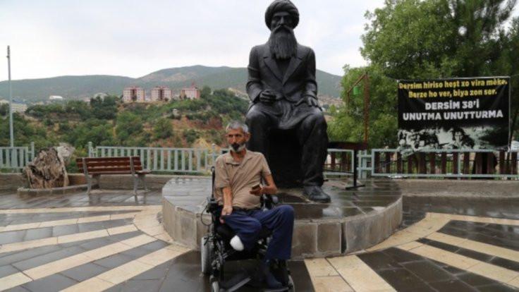 Tekerlekli sandalyeyle Dersim'e ulaştı