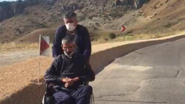 Tekerlekli sandalyeyle Dersim'e protesto yürüyüşü