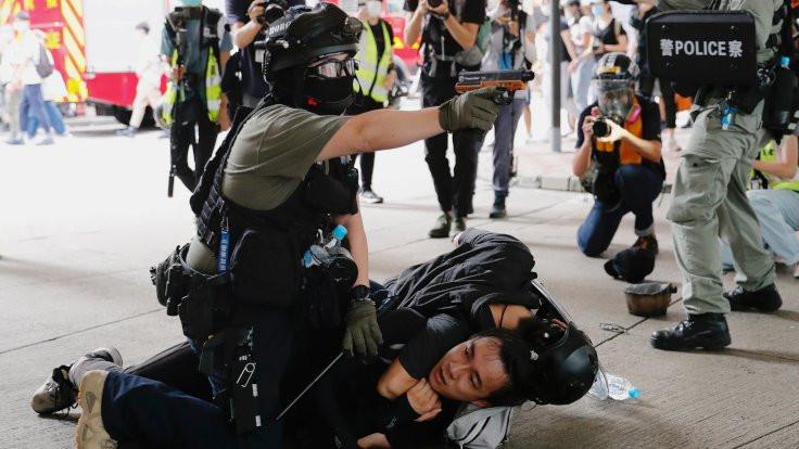 Çin karşıtı gösterilerde 70 gözaltı