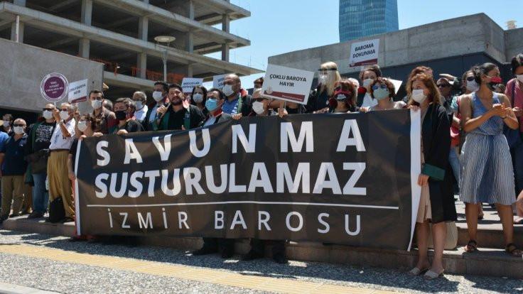 İzmir Barosu avukatları: Teslim olmayacağız, biat etmeyeceğiz