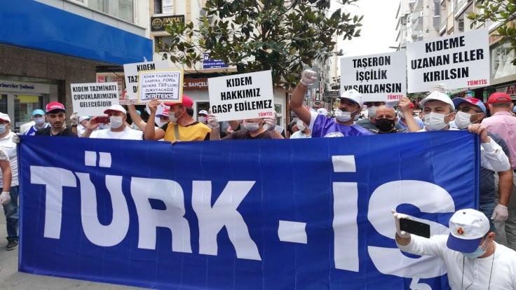 İşçilerden eylem: Kıdem tazminatı son kale