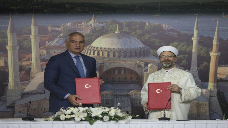 Ayasofya için işbirliği protokolü imzalandı