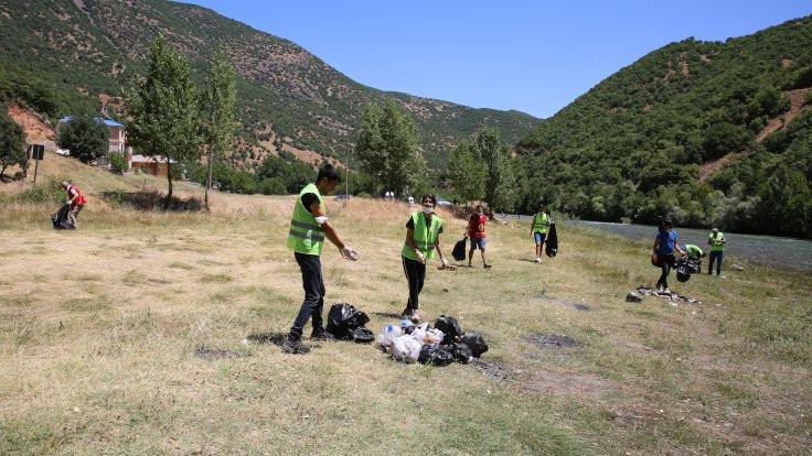 Munzur'da çevre temizliği